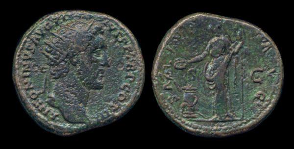 ROMAN EMPIRE, Antoninus Pius, 138-161 AD, dupondius