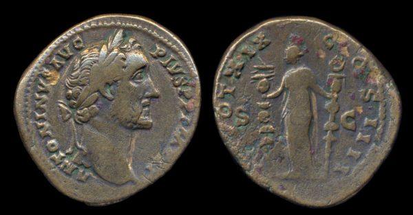 ROMAN EMPIRE, Antoninus Pius, 138-161 AD, sestertius