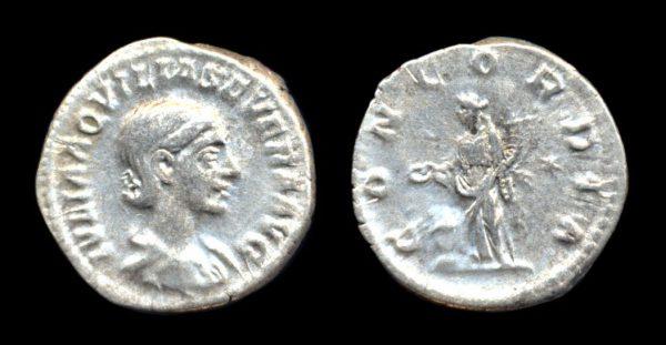 ROMAN EMPIRE, Aquilia Severa, 222 AD, silver, denarius