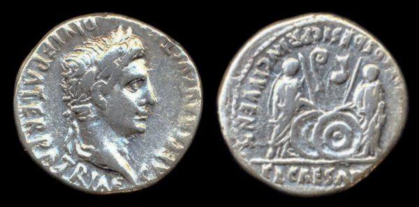 ROMAN EMPIRE, Augustus, 27 BC - 14 AD, denarius