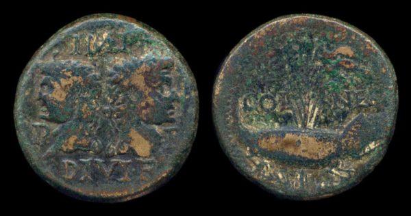 ROMAN EMPIRE, Augustus & Agrippa, 27 BC - 12 AD, dupondius