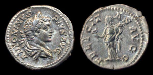 ROMAN EMPIRE, Caracalla, 198-217 AD, denarius