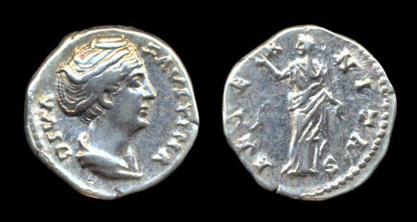 ROMAN EMPIRE, Diva Faustina Senior, after 141 AD, denarius