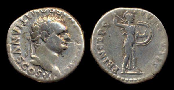 ROMAN EMPIRE, Domitian, Caesar under Titus, 79-81 AD, denarius
