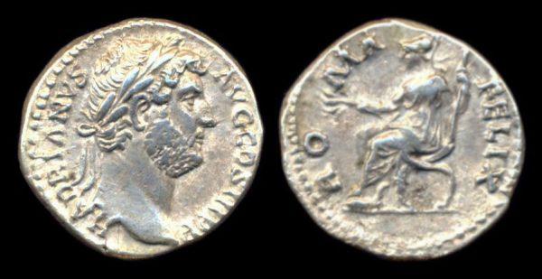 ROMAN EMPIRE, Hadrian, 117-138 AD, denarius