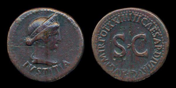 ROMAN EMPIRE, Livia, 27 BC - 29 AD, dupondius