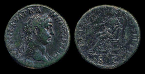 ROMAN EMPIRE, Trajan, 98-117 AD, sestertius