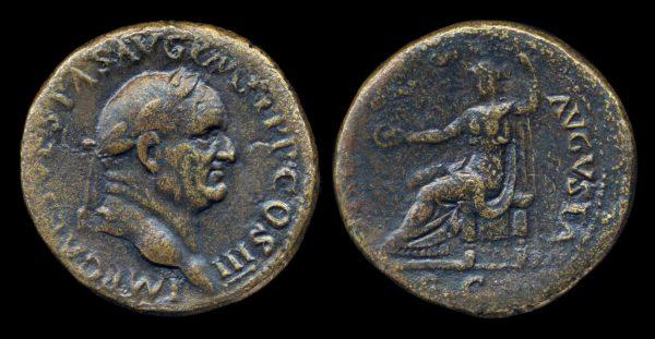 ROMAN EMPIRE, Vespasian, 69-79 AD, sestertius