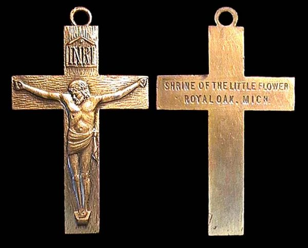 USA, crucifix, no date (1930s), church of the notorious Father Coughlin