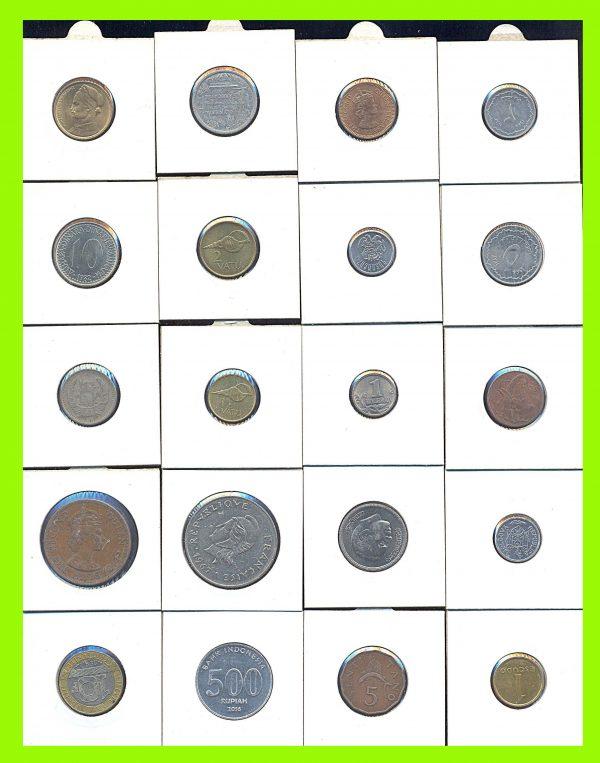 Modern world coins, 20 different