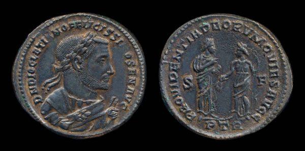 ROMAN EMPIRE, Diocletian, post-abdication, 305-208 AD, follis