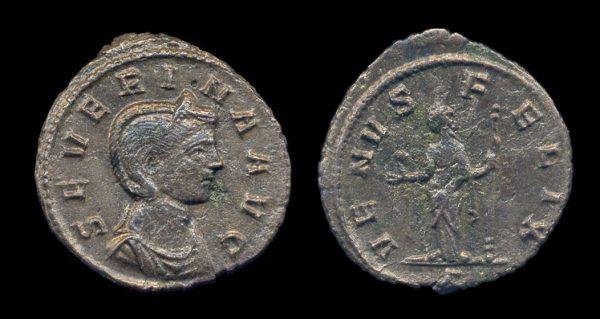 ROMAN EMPIRE, Severina, wife of Aurelian, 270-275 AD, denarius
