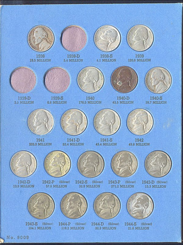 USA, Jefferson nickel collection