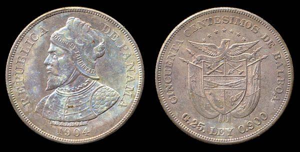 PANAMA, 50 centesimos, 1904