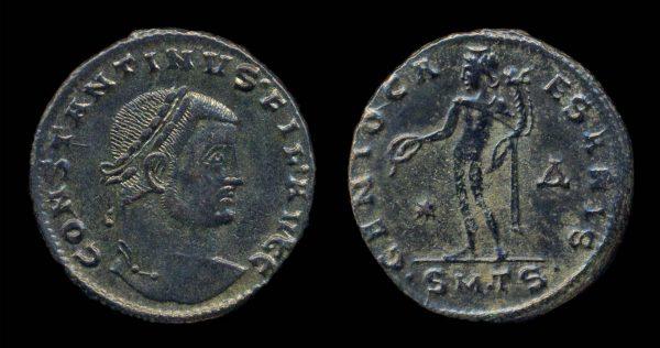 ROMAN EMPIRE, Constantine I, Filius Augustorum, 309-310 AD, follis, Thessalonika mint