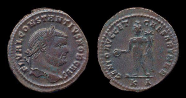 ROMAN EMPIRE, Constantius I, Caesar, 293-305 AD, follis, Cyzicus mint