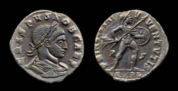 ROMAN EMPIRE, Crispus, 317-326 AD, reduced follis, Arelate mint