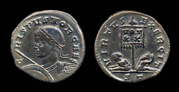 ROMAN EMPIRE, Crispus, 317-326 AD, centenionalis, Ticinum mint