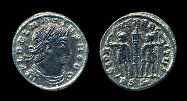 ROMAN EMPIRE, Delmatius, 335-337 AD, reduced centenionalis, Siscia mint