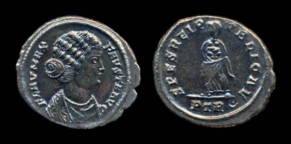 ROMAN EMPIRE, Fausta, 324-326 AD, reduced centenionalis, Treveri mint