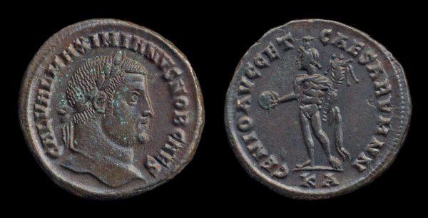 ROMAN EMPIRE, Galerius, Caesar, 293-305 AD, follis, Cyzicus mint