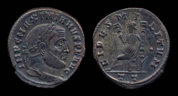 ROMAN EMPIRE, Galerius, 305-311 AD, follis, Ticinum mint