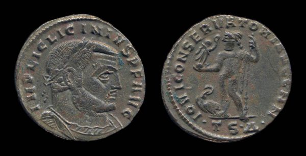 ROMAN EMPIRE, Licinius I, 308-324 AD, follis, Thessalonika mint
