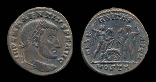 ROMAN EMPIRE, Maxentius, 306-312 AD, follis, Ostia mint
