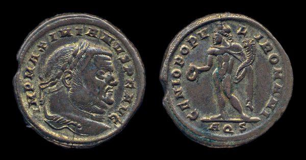 ROMAN EMPIRE, Maximianus, 286-305 AD, follis, Aquileia mint