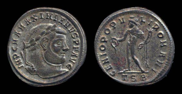 ROMAN EMPIRE, Maximianus, 286-305 AD, follis, Thessalonika mint