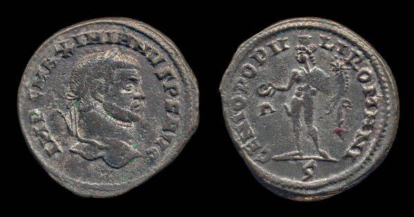 ROMAN EMPIRE, Maximianus, 286-305 AD, follis, Rome mint