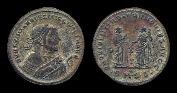 ROMAN EMPIRE, Maximianus, abdicated, 305-306 AD, follis, Serdica mint