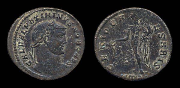 ROMAN EMPIRE, Maximinus II, Caesar, 305-308 AD, follis, Heraclea mint