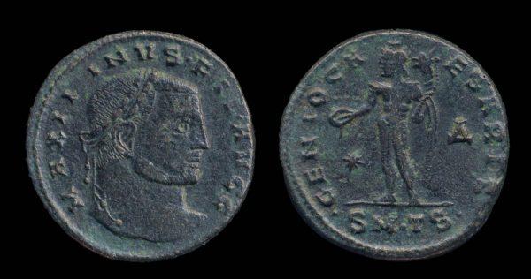 ROMAN EMPIRE, Maximinus II, Filus Augustorum, 309-310 AD, follis, Thessalonika mint