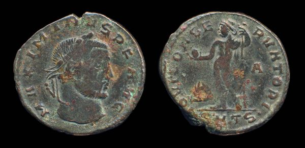 ROMAN EMPIRE, Maximinus II, 309-313 AD, follis, Thessalonika mint