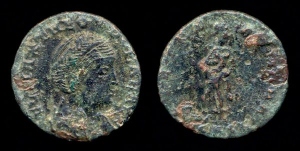 ROMAN EMPIRE, Theodora, reduced centenionalis, mint obscure