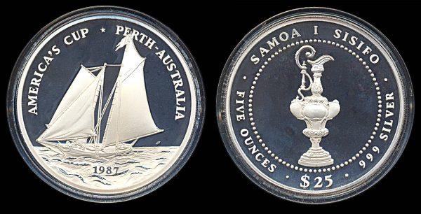 Samoa 5 ounce silver coin