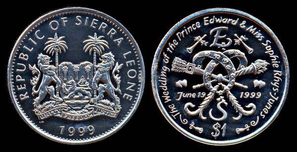 SIERRA LEONE, 1 dollar, 1999