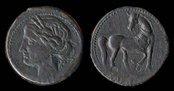 ZEUGITANIA, CARTHAGE, tridrachm, c. 310-290 BC, billon