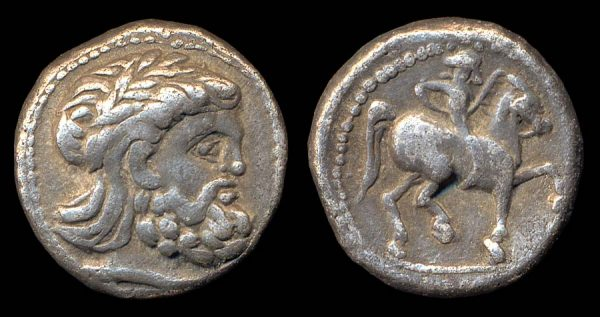 DANUBIAN CELTS, tetradrachm, 3rd c. BC, silver