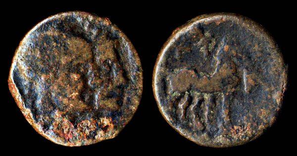 ZEUGITANIA, UTICA, trishekel, 1st c. BC, bronze
