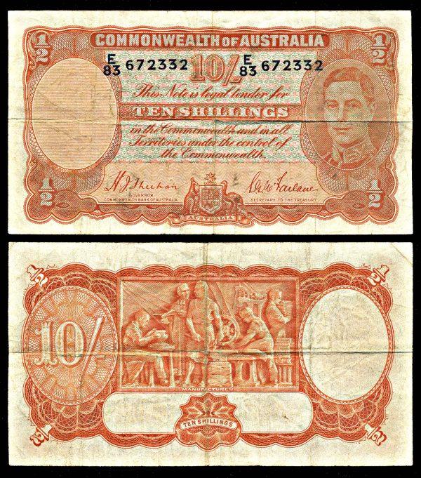 AUSTRALIA, 10 shillings, (1942), P25a