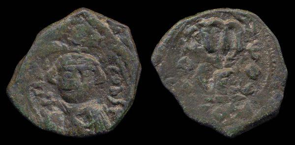 BYZANTINE, Constans II, 641-668 AD, follis, Syracuse