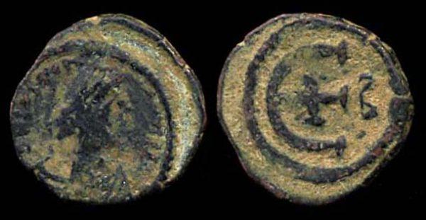 BYZANTINE, Justin I, 518-527 AD, pentanummium, Constantinople