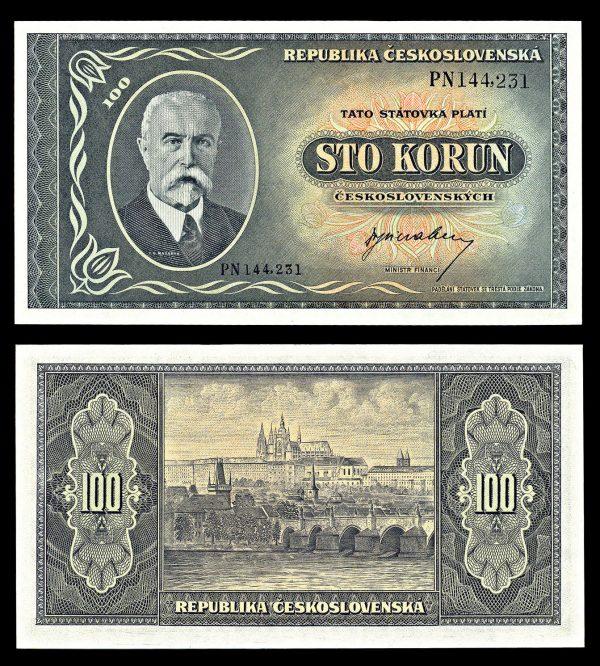 CZECHOSLOVAKIA, 100 korun, (1945), P63a