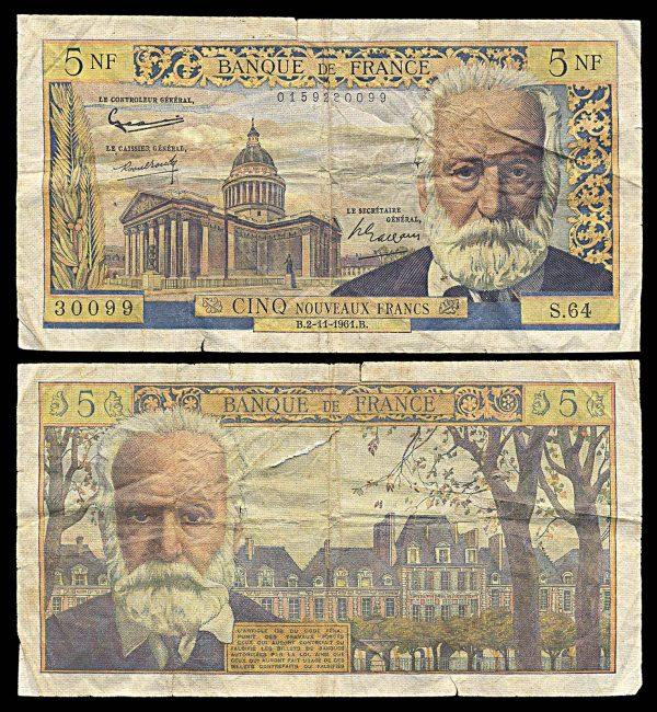 FRANCE, 5 new francs, 2.11.1961, P141a