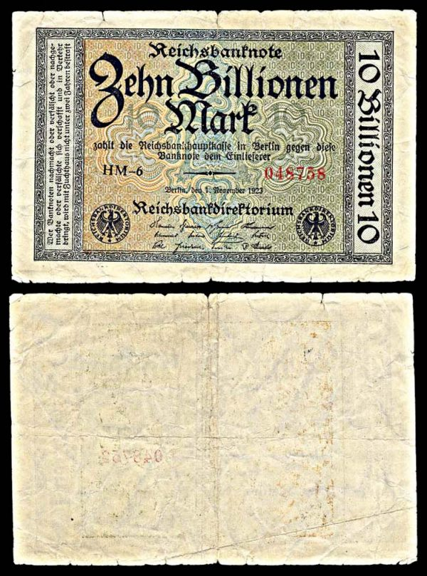 GERMANY, 10 billion mark, 1.11.1923, P132