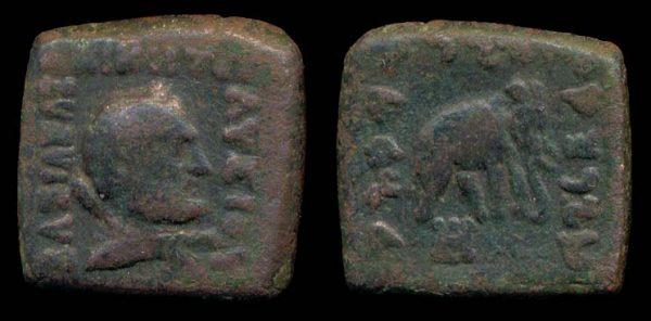 INDO-GREEK, Lysias, c. 145-135 BC, hemiobol