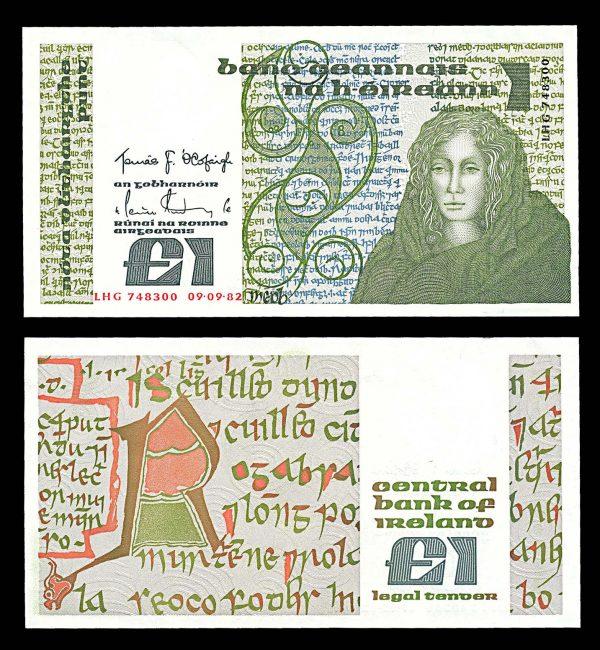 IRELAND, 1 pound, 9.9.1982, P70c