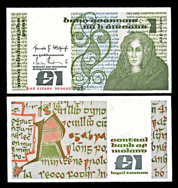 IRELAND, 1 pound, 30.6.1982, P70c